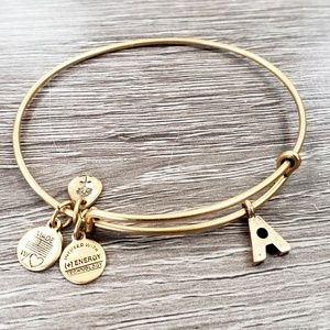 "Alex and Ani ""A Letter"" Charm Bracelet"